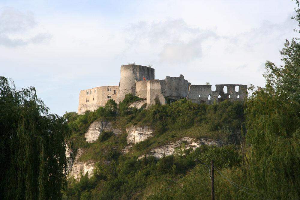 Chateau Gaillard vu du camping